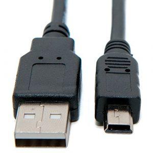 Keple Mini USB-Kabel Stecker Datenkabel fur Sony Handycam DCR-DVD Series: DCR-DVD100 / DCR-DVD101 / DCR-DVD106 / DCR-DVD109 / DCR-DVD110 / DCR-DVD150 / DCR-DVD200 / DCR-DVD201 / DCR-DVD203 / DCR-DVD304 / DCR-DVD306 / DCR-DVD310 / DCR-DVD403 / DCR-DVD404 / DCR-DVD405 / DCR-DVD406 / DCR-DVD410 / DCR-DVD450 / DCR-DVD505 / DCR-DVD506 / DCR-DVD7 Digitalkameras (UC-E4)