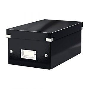 Leitz DVD Aufbewahrungsbox, Schwarz, Mit Deckel, Click & Store, 60420095
