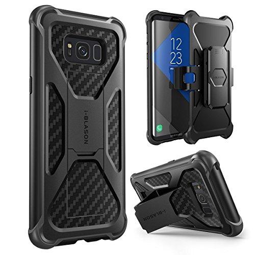 Samsung Galaxy S8 Hülle , i-Blason Prime Serie - 2-Schicht Holster Schutzhülle / Tasche / Gehäuse / Zubehör mit Standhalter, schwenkbaren Gürtelschnalle mit Locking-Mechanism (2017 Release) (schwarz)