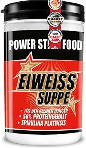 EIWEISS GEMÜSE-SUPPE – ideale Zwischenmahlzeit mit 56% Proteingehalt während einer Diät – zum Aufbau und Erhalt von Muskelmasse – 400g – MADE IN GERMANY