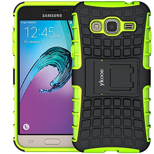 Galaxy Grand Prime Hülle, ykooe (TPU Series) Samsung Grand Prime Hybrid Handyhülle Drop Resistance Handys Schutz Hülle mit Ständer für Samsung Galaxy Grand Prime (Grün)