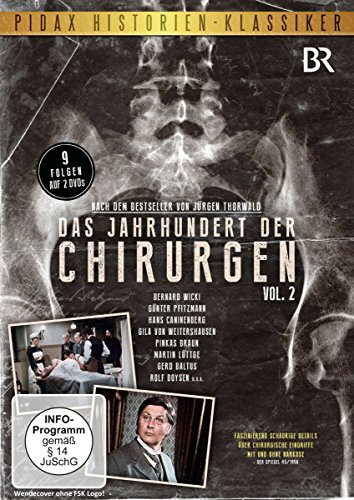 Das Jahrhundert der Chirurgen, Vol. 2 / Weitere 9 Folgen der Serie mit Starbesetzung nach dem Bestseller von Jürgen Thorwald (Pidax Historien-Klassiker) [2 DVDs]