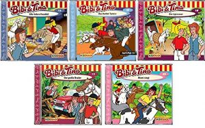 Bibi & Tina – Hörspiel zur Zeichentrick TV-Serie – CD 16-20 im Set – Deutsche Originalware [5 CDs]