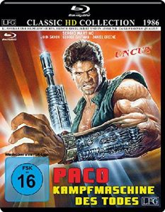 Paco – Kampfmaschine des Todes – Uncut – Classic HD Collection # 10 (mit Wendecover) [Blu-ray]