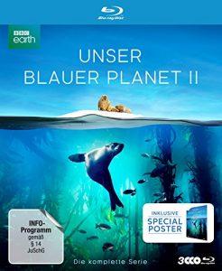 """UNSER BLAUER PLANET II – Die komplette ungeschnittene Serie zur ARD-Reihe """"Der blaue Planet"""" (amazon Exklusiv-Version mit Poster) [Blu-ray] [Limited Collector's Edition]"""
