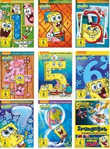 SpongeBob Schwammkopf – Season 1-8 + Kinofilm-Box (Film 1 + aus dem Wasser) im Set – Deutsche Originalware [28 DVDs]